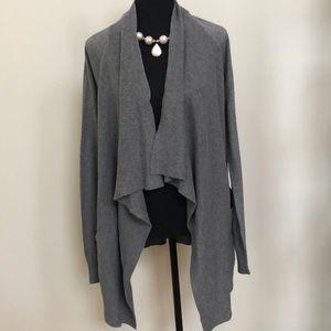 a.n.a Gray Cardigan Medium with Pockets